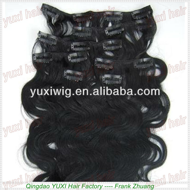 Top virgin hair clip hair extension 100g 120g 160g 220g 260g clip in hair