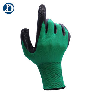 best price anti slip palm dotted promotional mechanic safety work gloves leather working gloves for hand protection