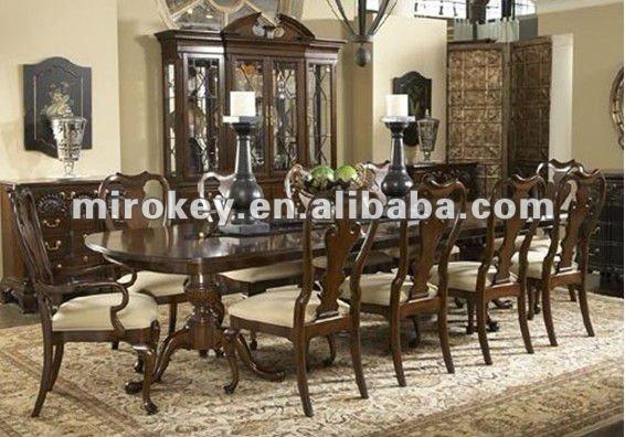 Tradicional muebles de comedor plazas 8 antiguos de for Muebles de comedor antiguos