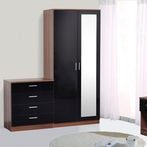 Hot selling black lacquer bedroom furniture