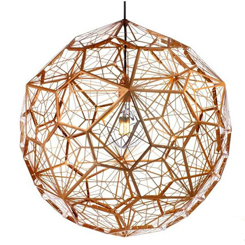 Dia 650mm New Morden Silver/Gold /Copper Tom Dixon Etch Web Pendant Lights Stainless Steel Lampshade Home Decor Light Fixtures