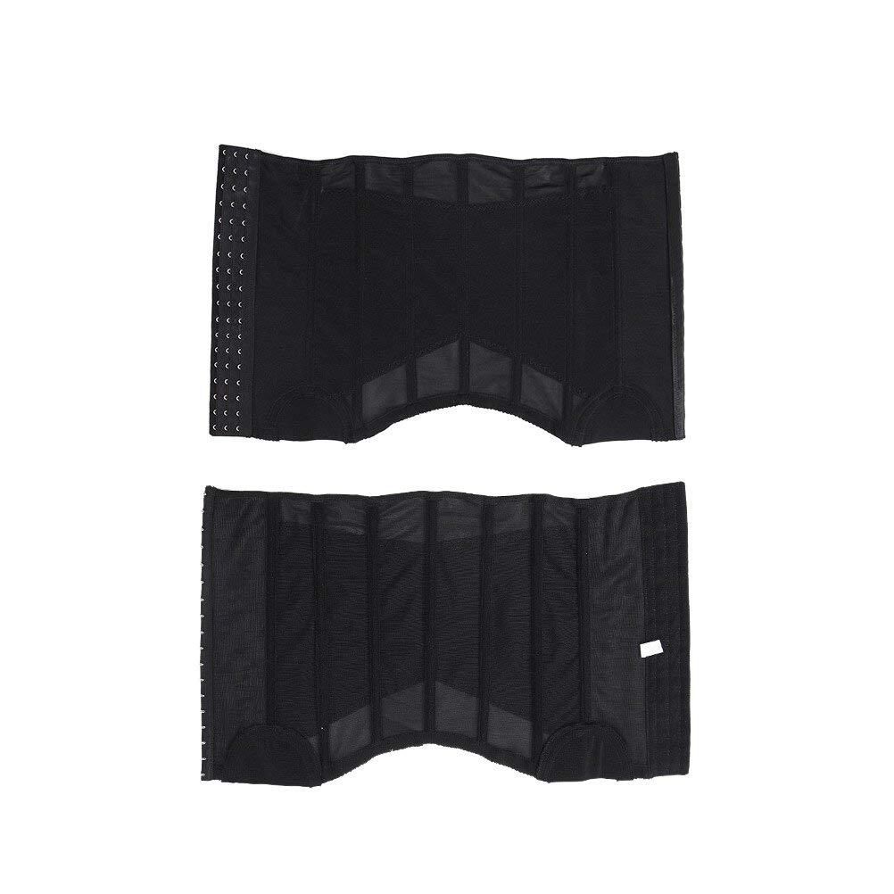 VORCOOL Waist Trimmer Belt Weight Loss Belt Slimming Belt Tummy AB Belt for Men Waist 101-110CM Size 3XL (Black)