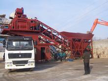 trailer mobile concrete mixer batch plant 60~100m3/h hot sale in Saudi Arabia over sea service