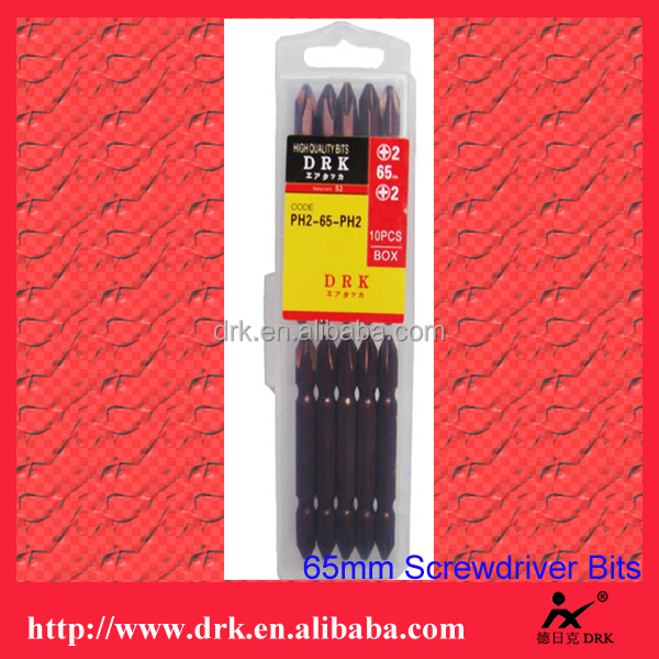 High quality bright red surface 65mm S2 quick change drill bit set