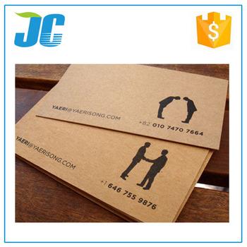 350gsm brown kraft paper business card buy kraft paper business 350gsm brown kraft paper business card reheart Gallery