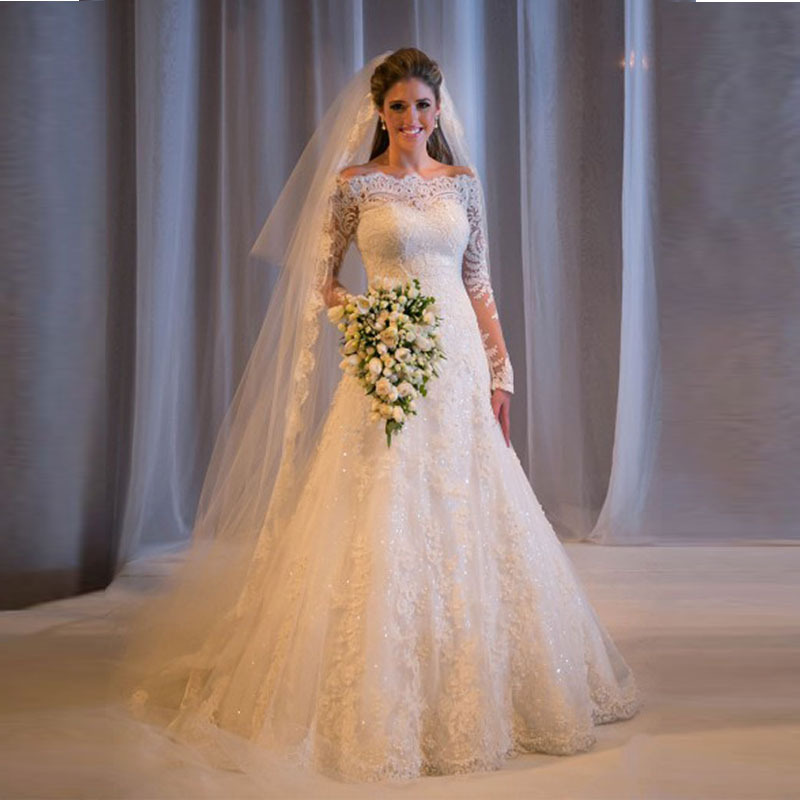 Custom Made Off The Shoulder New White/Ivory Wedding Gowns