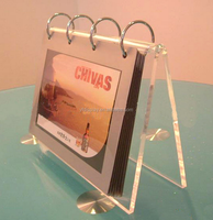 Customized Acrylic Desk Calendar Stand for Office