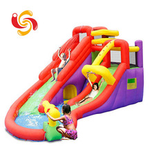 Outdoor Playground inflatable bouncy castle with water slide