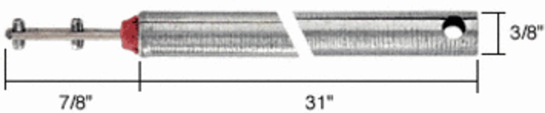 "C.R. LAURENCE FL3120 CRL 31"" Tubular Spiral Tilt Window Balance Red Bushing"