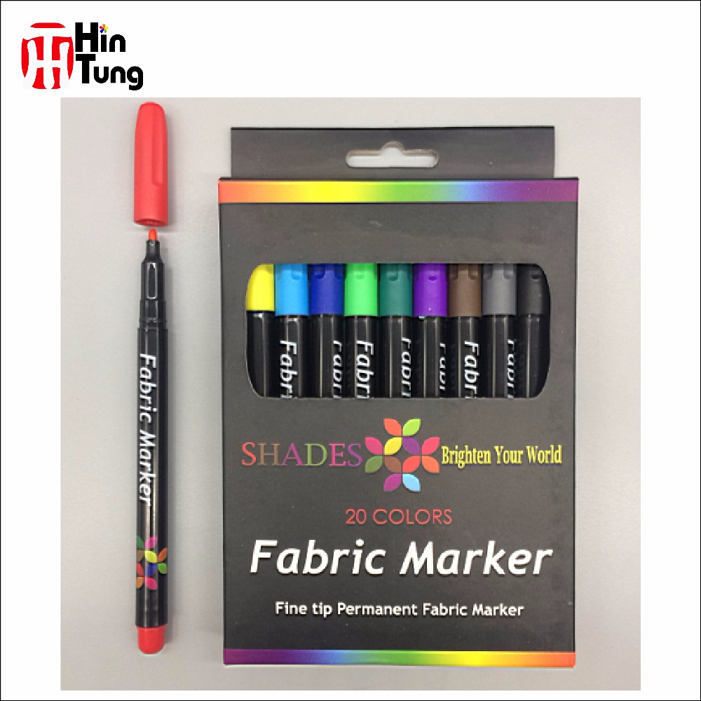 20pcs Fine Tip Permanent Fabric Marker pen