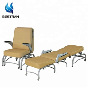 BT-CN005 Folding sleep patient room bedside hospital recliner chair cum bed prices