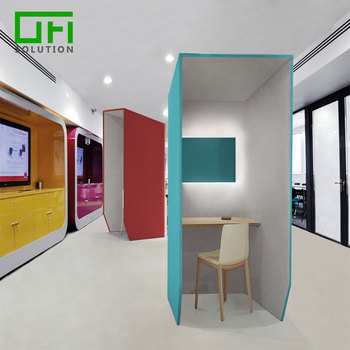Soundproof ECO Friendly Protect Privacy PET Acoustic Panels Sound Reduce  Office Phone Booth