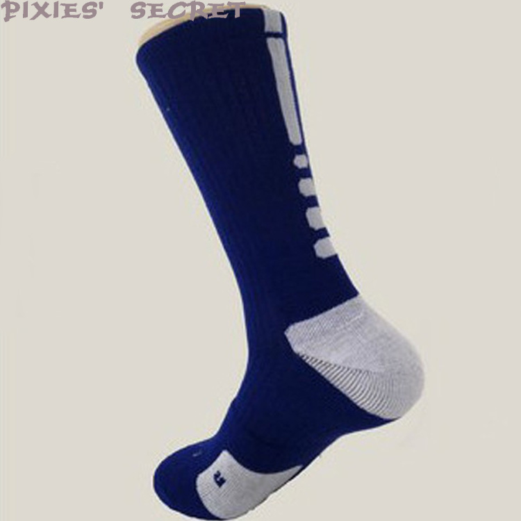 Custom logo men's sports basketball football dry fit athletic elite crew socks