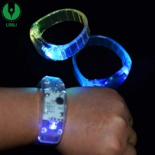 Factory Wholesale Color Glowing Bracelet, LED Lights Flash Wrist, Led Wrist Band With Custom Logo