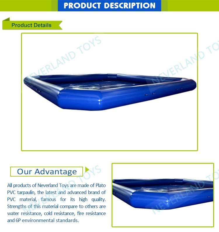 High Quality NEVERLAND TOYS Giant Intex Swimming Pools Inflatable Blue Inflatable Swimming Pool Indoor or Outdoor For Sale