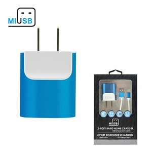 Miusb 2019 trend Wall Charger Universal Fast Dual Port Travel Mobile Phone AC Adapter Portable Block Power Plug