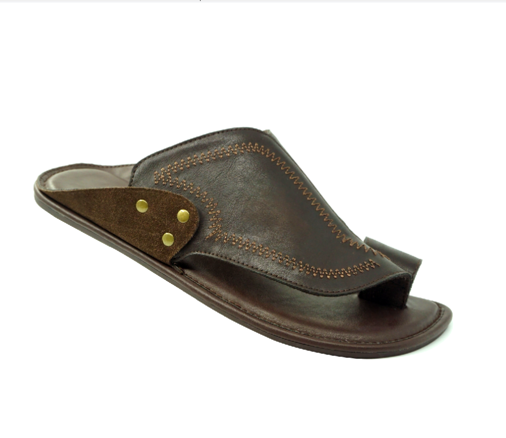 Men gender Rubber Outsole Genuine Leather Upper Material men sandals and slippers flip-flop slippers
