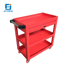 Workshop metal tool cabinet metal storage /tool trolley/ tool cart with handle and wheels