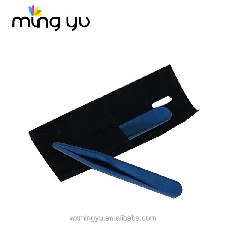 Mirror shiny Blue mirror surface metal collar stays