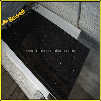 Bullnose Black Galaxy Natural Stone Flooring 24 Inch Granite Tile