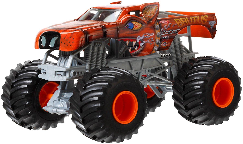 Hot Wheels Monster Jam Brutus Die-Cast Vehicle, 1:24 Scale