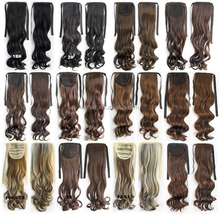 China Factory price wholesale Long Synthetic Hair wave Drawstring Ponytail