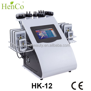 HencoBeauty Cavitation 2.0 Fast Slimming Lipo Laser Machine 6 in 1 ultrasonic cavitation vacuum RF body weight loss machine
