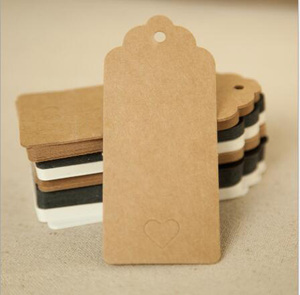 7*4cm Kraft Paper Card Blank Swing Tag Wedding Favor Gift Tag Price Label Name Card 100pcs/pack