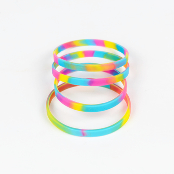 2019 Best Ing Rainbow Silicone Bracelets Colorful Rubber Wristband High