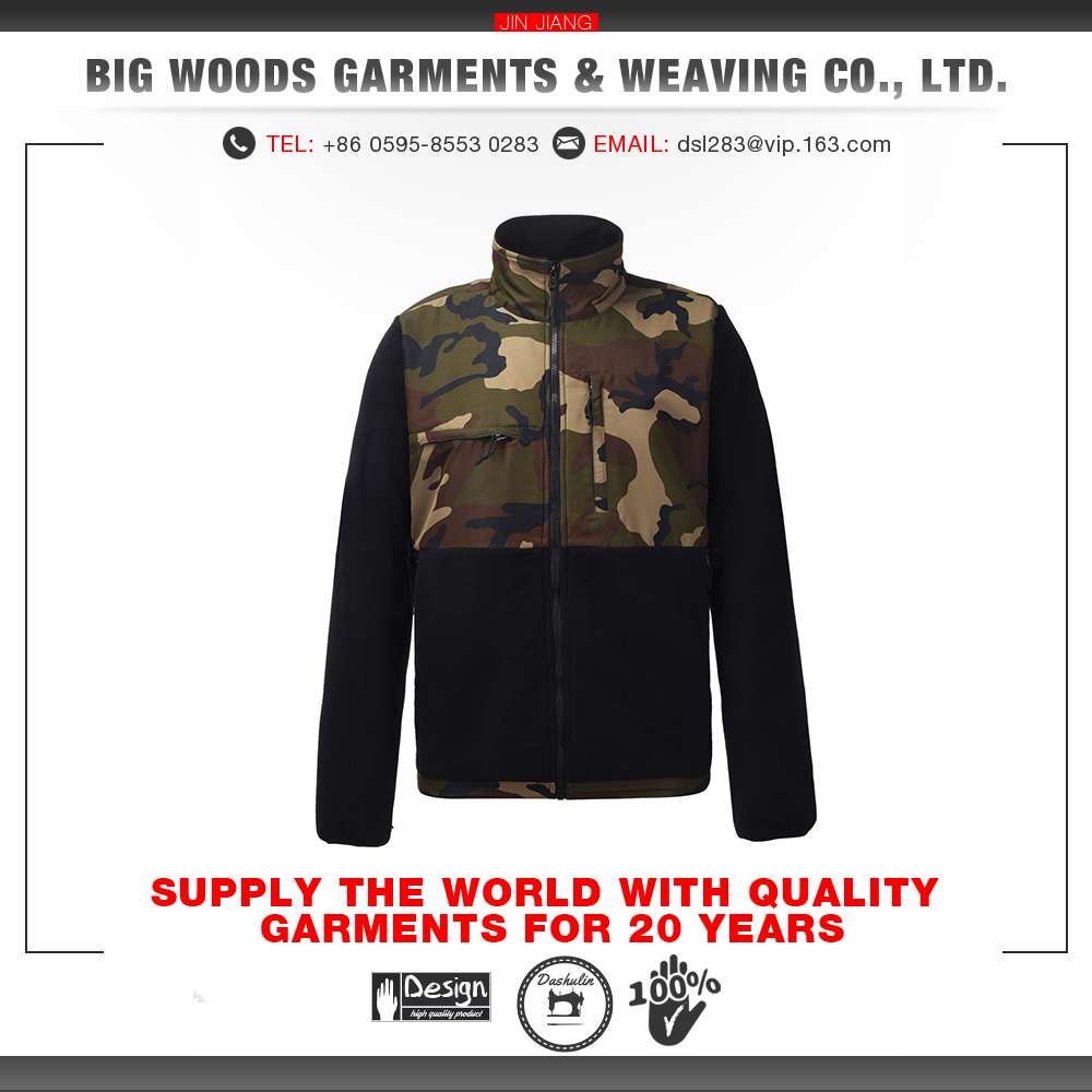 Factory customized camouflage fashion sport custom mens jackets coats