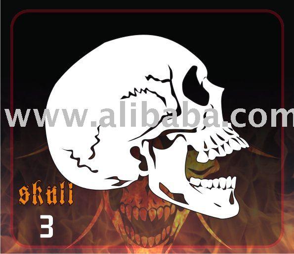 Airbrush Stencil By Deltaarts Skull 3 - Buy Stencil Deltaarts Product on  Alibaba com