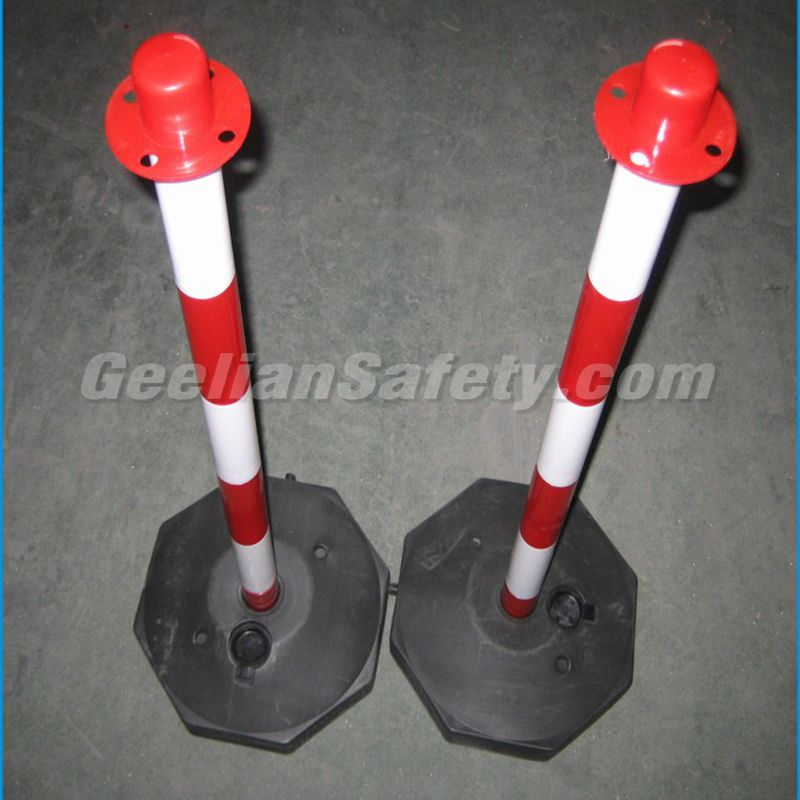 1100Mm Plastic Car Parking Barries Warming Decorative Sign Post Cone marker post