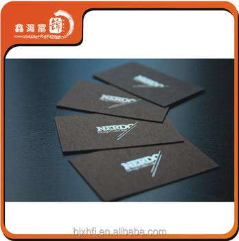 Unique Design Noir Carton Holographique Carte De Visite