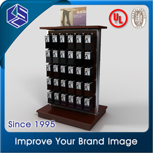 high end wood socks display rack foot stands