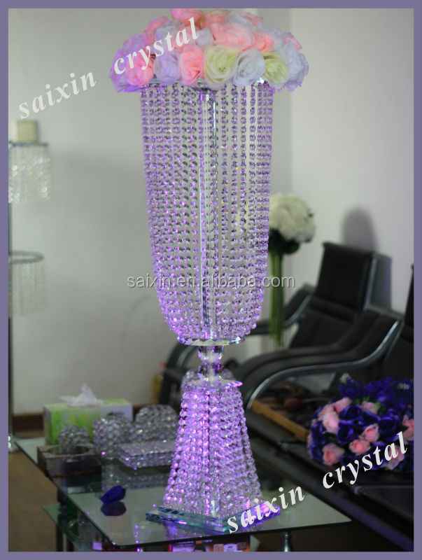 New! elegant crystal flower stand wedding crystal table centerpieces ZT-209