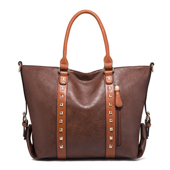 High quality women pu leather bag hang fashion tote