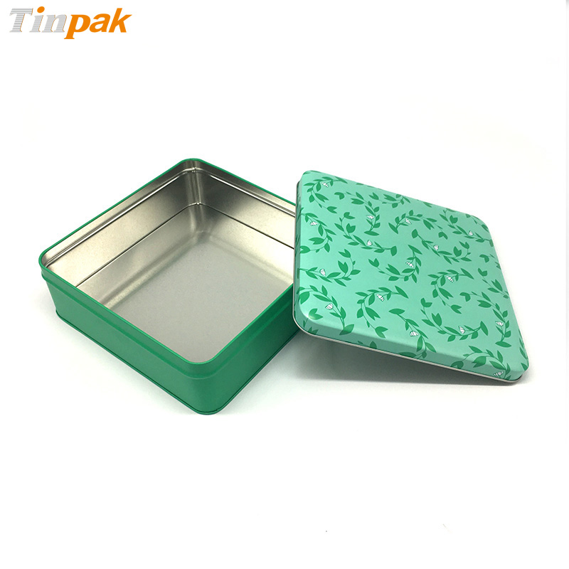 Fancy metal tin box for Christmas gifts packaging