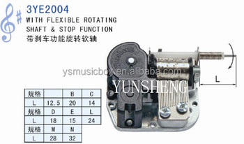China Manufactuer Music Box Spring Mechanic Wind Up Musical Movement