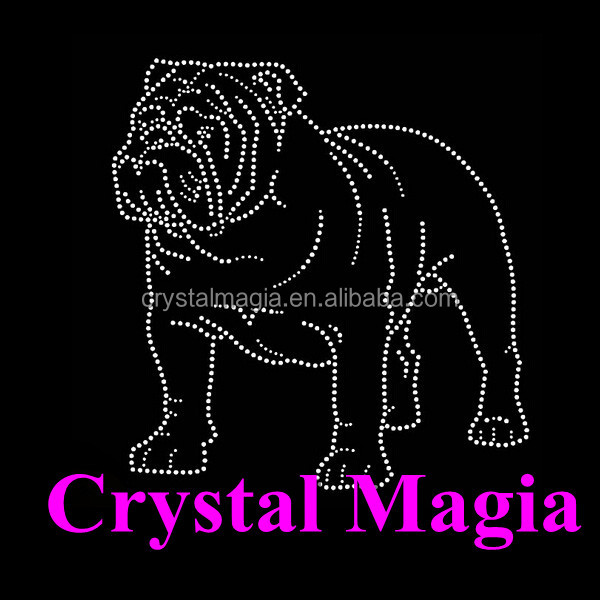 2017 Top selling clothing Pet Dog Rhinestone Transfer hot fix motifs strass