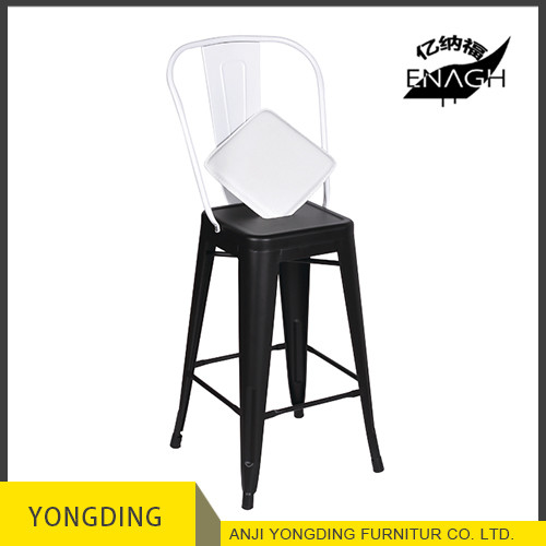 26 inch Industrial metal barstools with cushion commercial vantage stackable metal bar stools