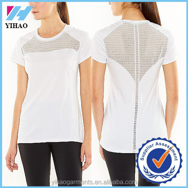 Yihao New Arrival white T Shirt Design China running short sleeve t-shirt Wholesale Women T Shirt Custom T-shirt OEM Clothing