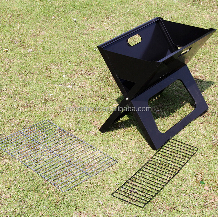 2015 outdoor bbq camping grill portable folding gas bbq X type grill HBB-002
