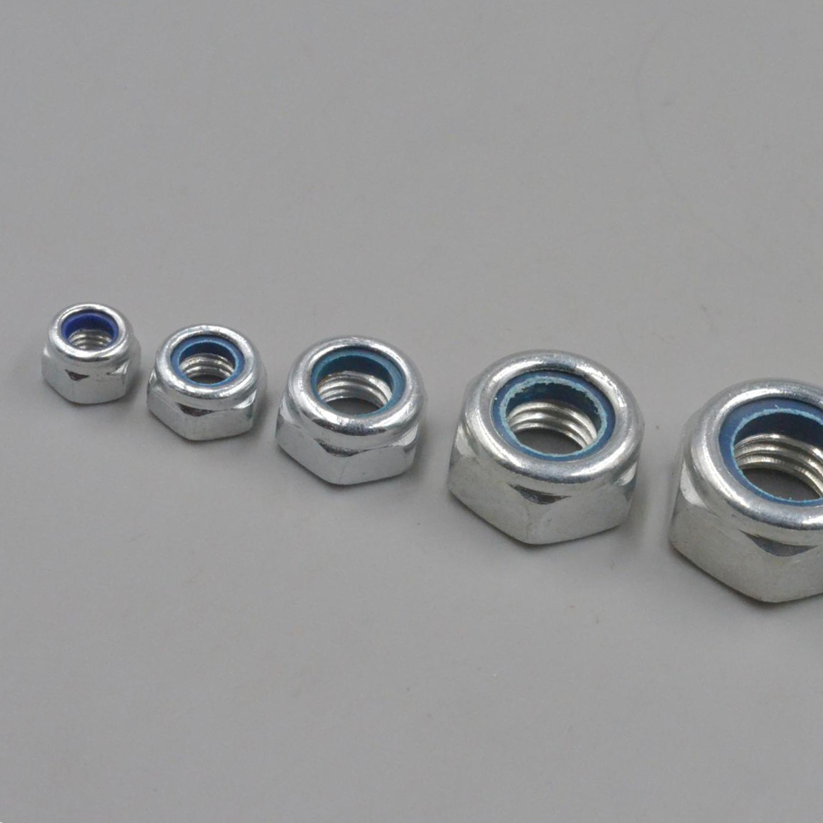 Good quality hot sale carbon steel m6 hexagonal insert hex nylock nuts