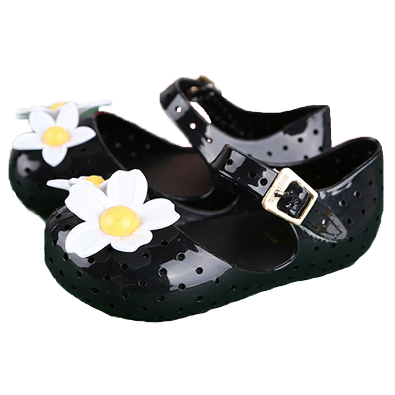Baby Shoes Baby Girl Mini Melissa Sandals Children Beach Sandal Flower Jelly Sweet Sandalias Baby Moccasins