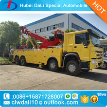 Good performance howo Wrecker Tow truck 20 ton Emergency Towing flatbed Truck Recovery Truck Bed Side tow 2 cars together
