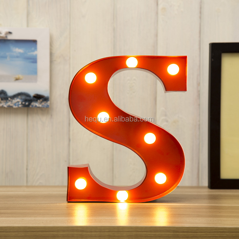 metal material of wedding lights vintage marquee letter