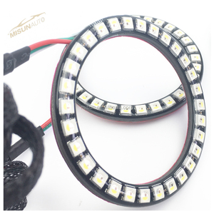 Waterproof coating 100mm led halo rings sequential lighting fog light