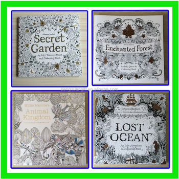 2016 Factory Direct Selling Secret Garden Adult Coloring Book High Quality Paiting Books Adults