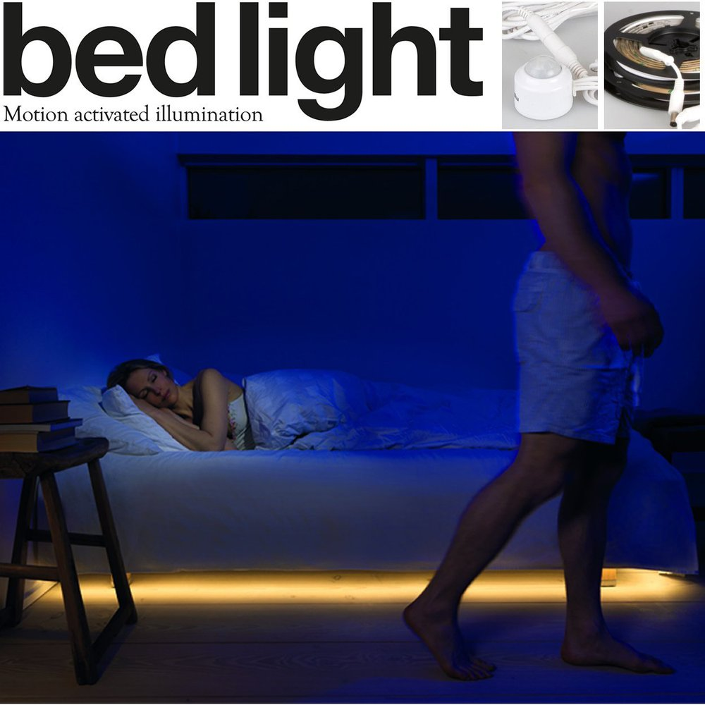 Led Motion Sensor Strip Light Stick Under Bed Sensor Night Light ...