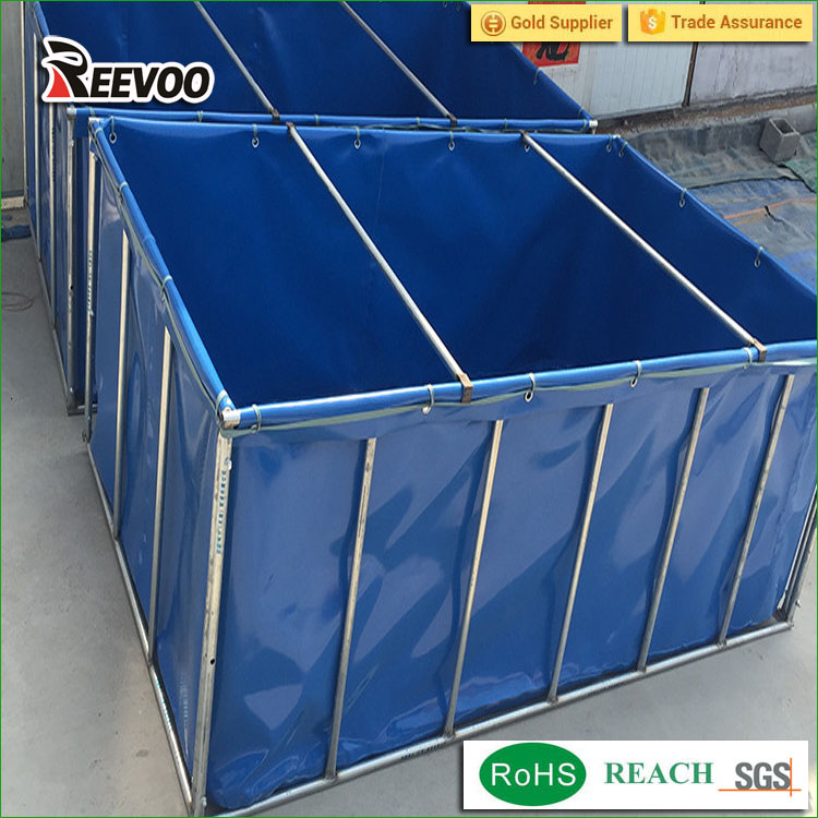 outdoor or indoor PVC big foldable fish farming ponds,Collapsible pvc fish tank pond for farm